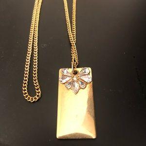 25% OFF - BaubleBar gold crystal pendant necklace